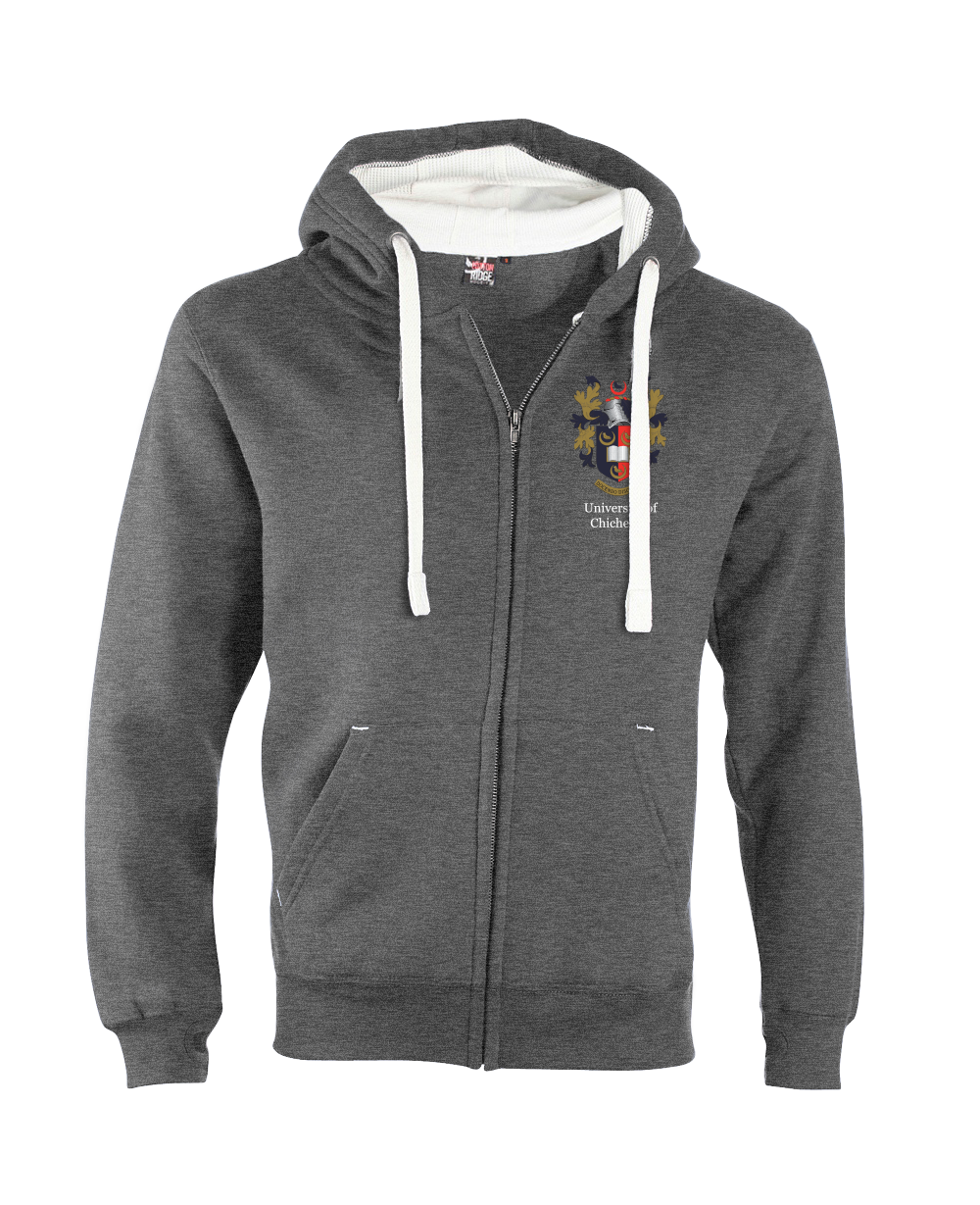 W81PF-EmbroideredCrest-Chichester University  Ultra Soft Feel Hooded Top
